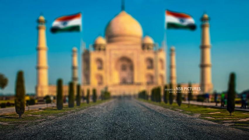 15 August Taj Mahal Editing Background Full HD