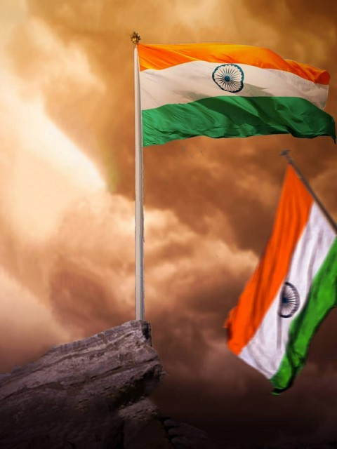26 January PicsArt CB Editing Background 2021 With Flag