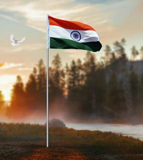 26 January Republic Day Editing Background With Flag