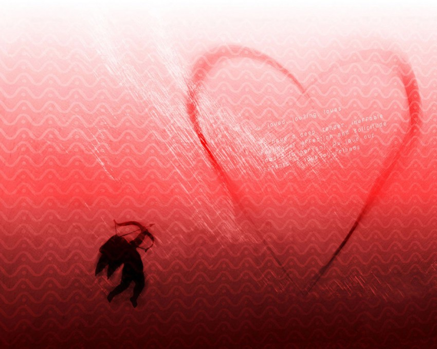 3D Love Red Heart PowerPoint Background