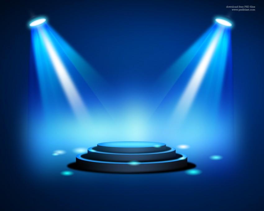 3D Studio Fog Light PPT PowerPoint Background