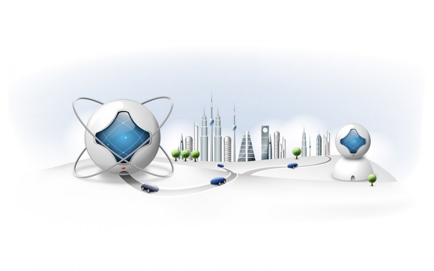 3D White City Doctor PowerPoint Background