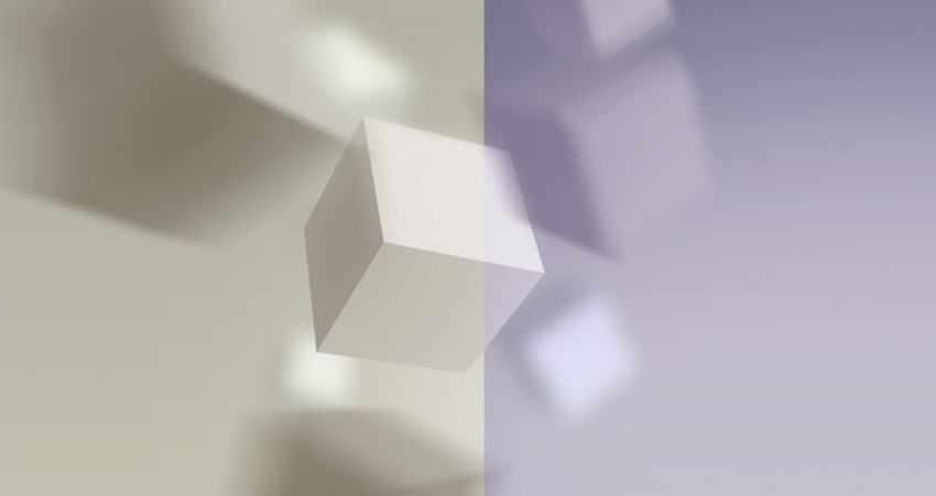 3D White Cube PPT PowerPoint Background Templates