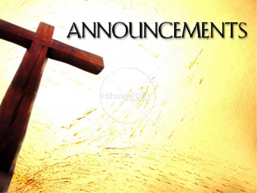 Announcement Annolincements PowerPoint Background
