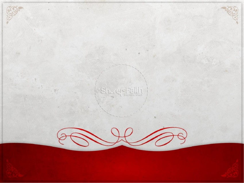 Announcement Red White PowerPoint Background