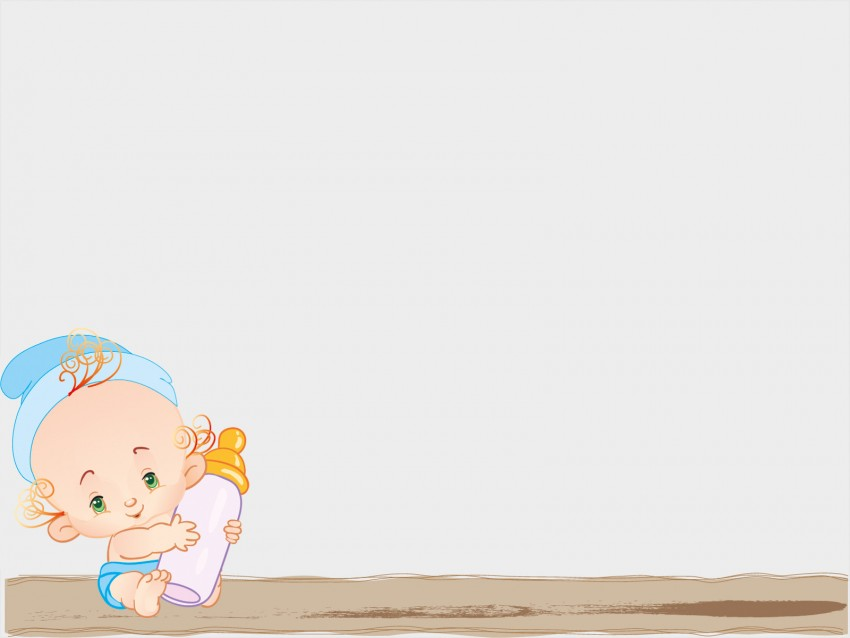 Baby Microsoft PPT PowerPoint Background Templates