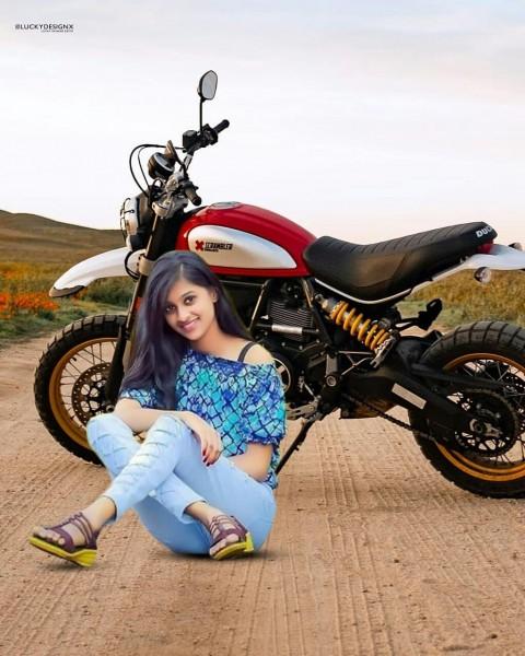 Bike Photo Editing HD Background With Girl