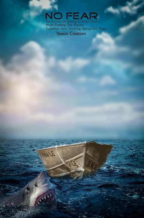 Boat Editing CB Background In Sea