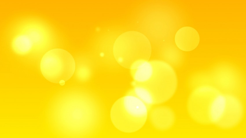 Bokeh Cool PPT Yellow PowerPoint Background
