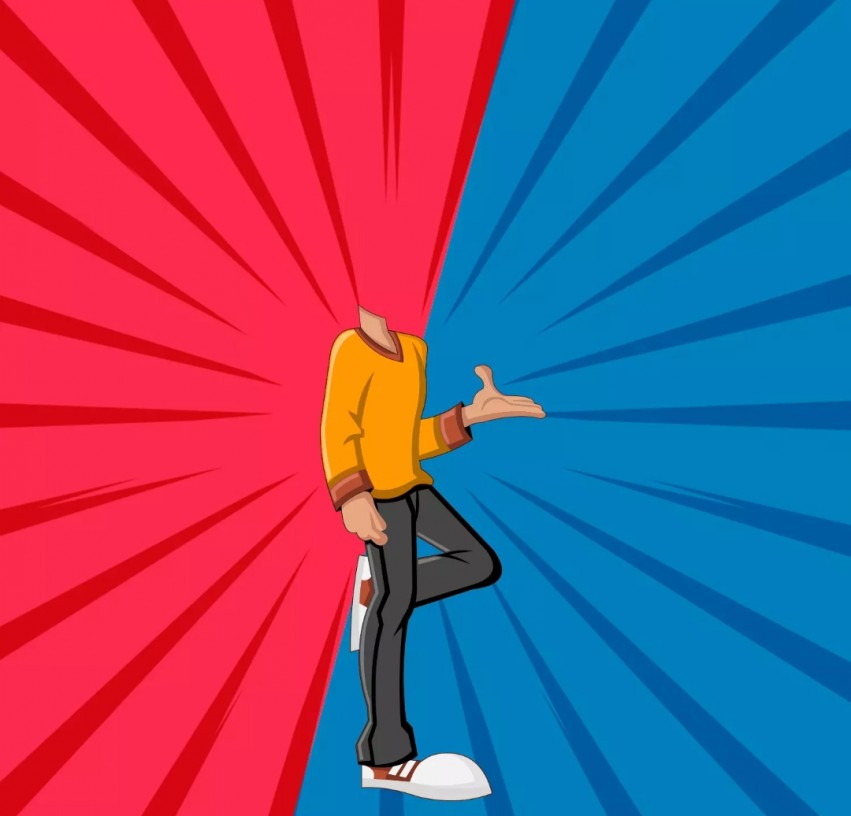 Cartoon Body Background Without Head Images