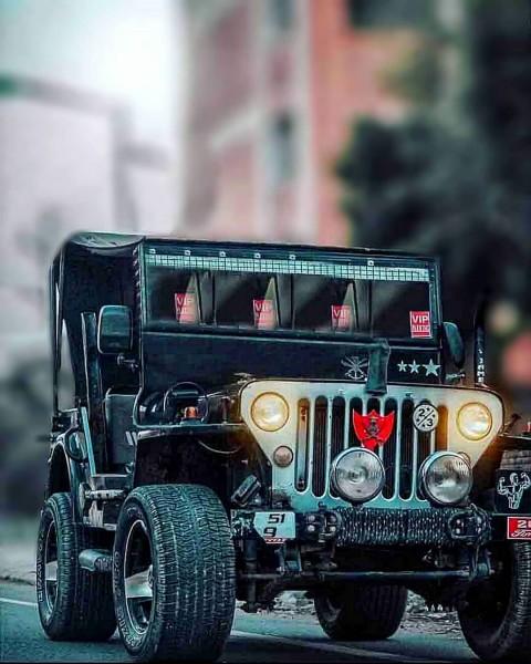 CB Jeep Editing Picsart Background