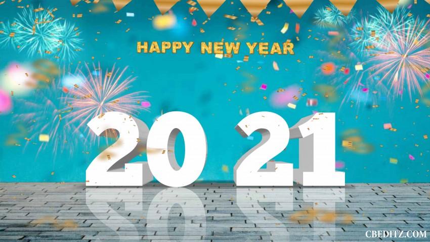Full HD CB  Happy New Year Editing Background 2021