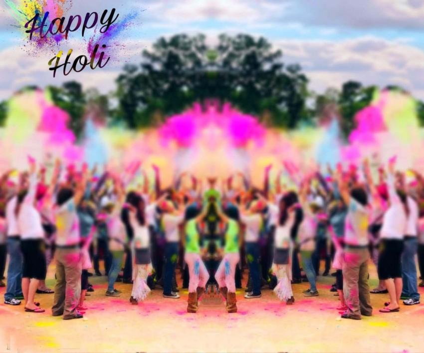 Celebrate Happy Holi Photo Editing Background