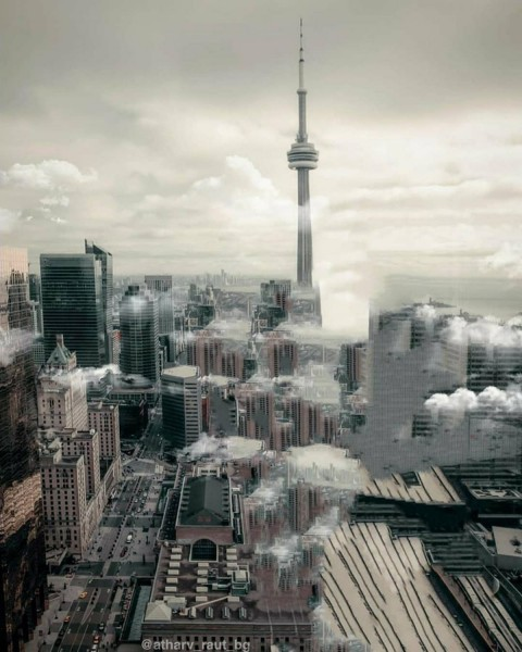 City Top View PicsArt Photo Editing Background
