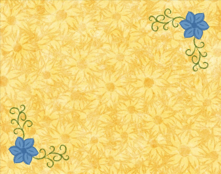 Cool Stylish New Yellow PowerPoint Background