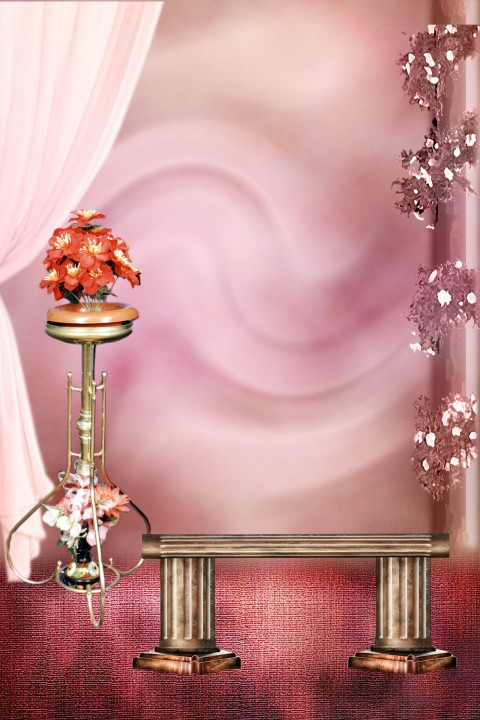 Couple Studio Background With Chair