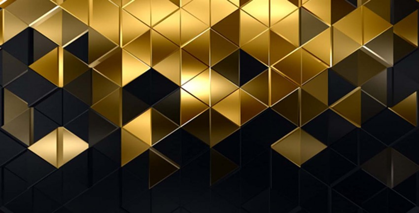 Elegant Black And Gold PowerPoint Background