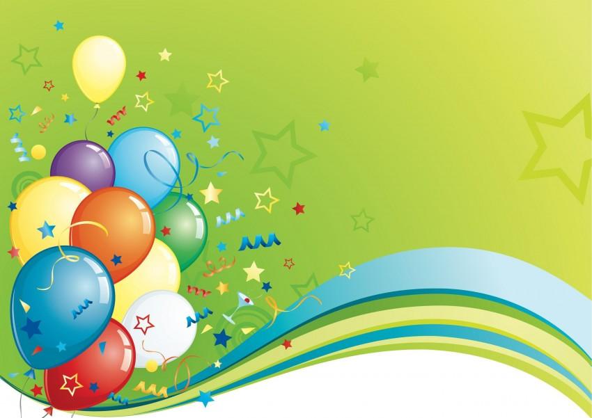 Flex Banner Happy Birthday Background With Balloon