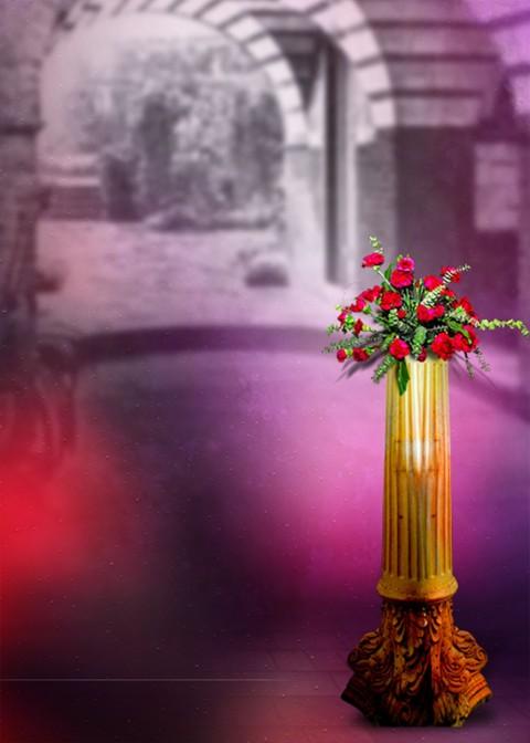 Flower Studio Background For Girls