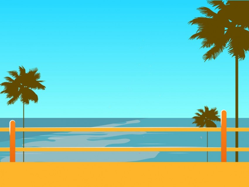 Free Beach PowerPoint Background Templates