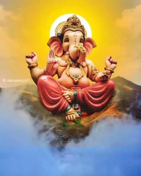 Ganesh Chaturthi Big Size CB Editing Background