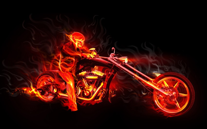 Ghost Rider Fire Background F(36)