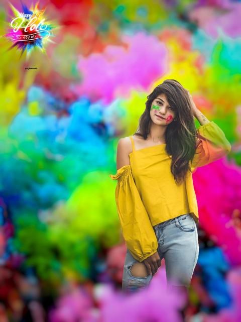 Girls Holi CB Picsart Editing Background