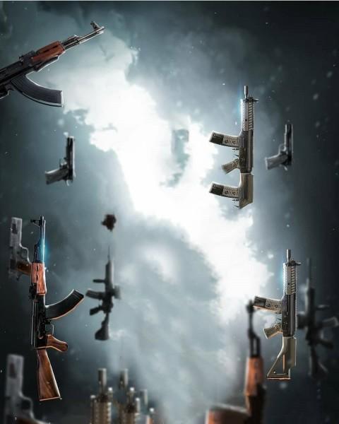 Gun PicsArt Editing HD Background
