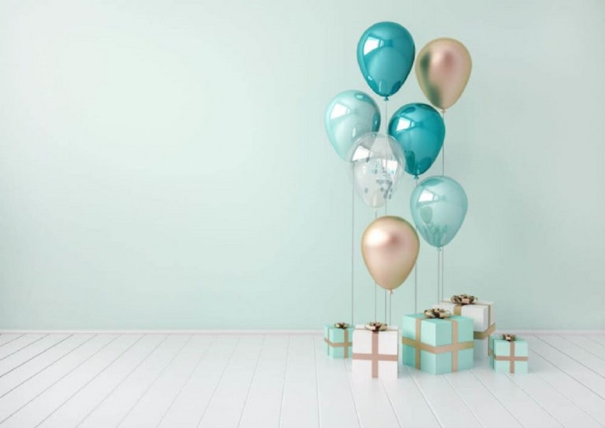 Happy Birthday Background With Balloon
