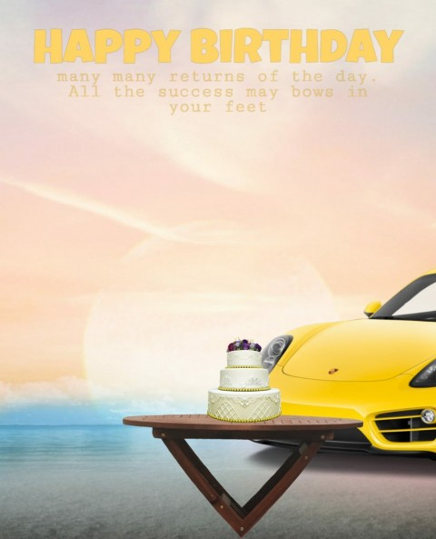 Happy Birthday Picsart Editing Background With Car