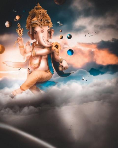 Happy Ganesh Chaturthi Editing Background