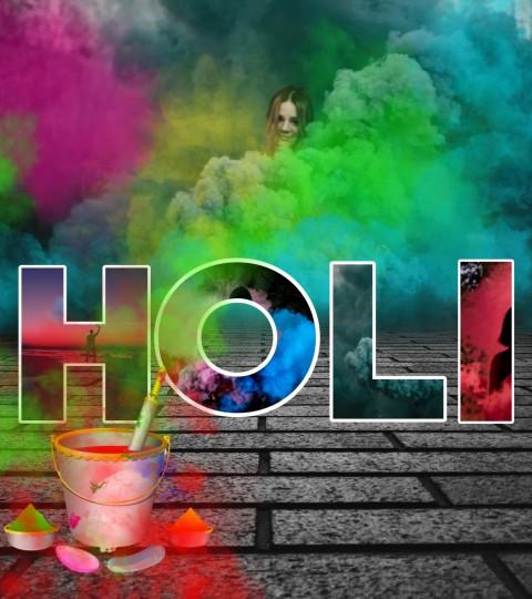 Happy Holi Editing Background Full HD