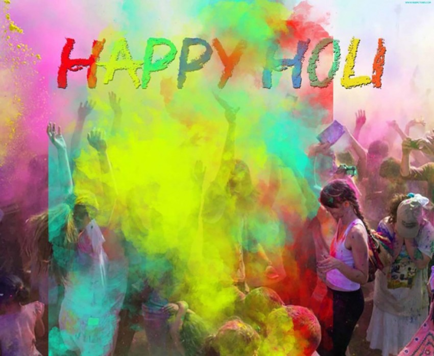 Happy Holi Photo Editing Background With Some People