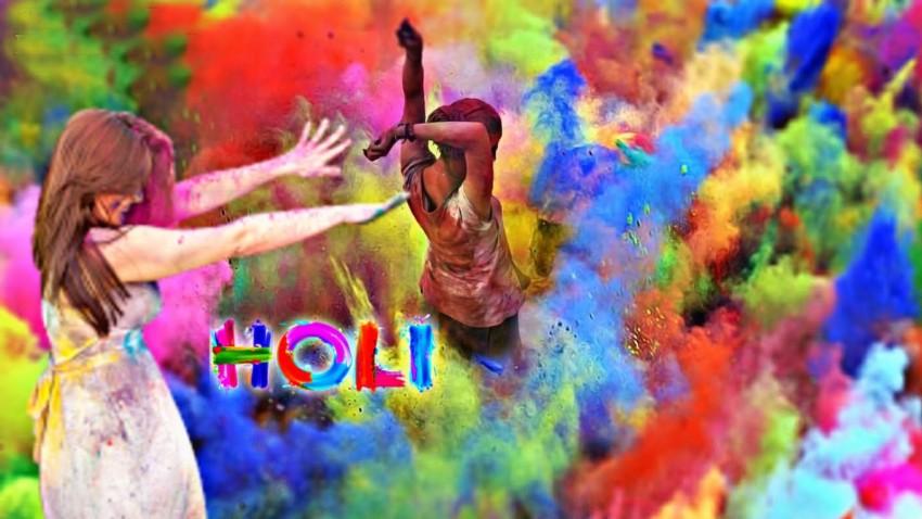 Happy Holi Photo Editing Banner Background