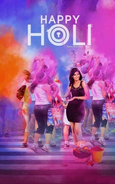 Happy Holi Picsart CB Photo Editing Background With Girls