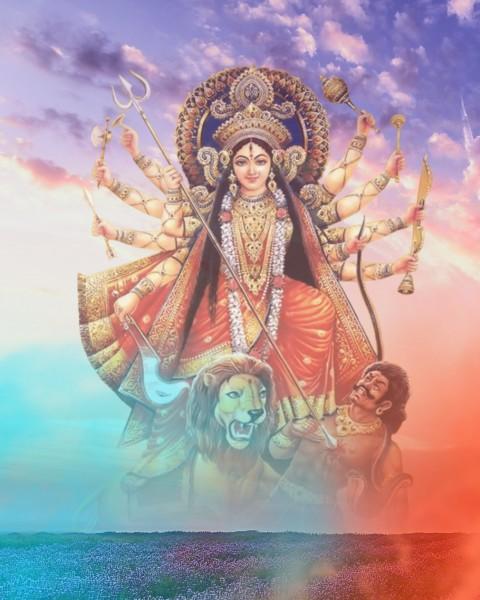 Happy Navratri Maa Durga CB PicsArt Editing Background