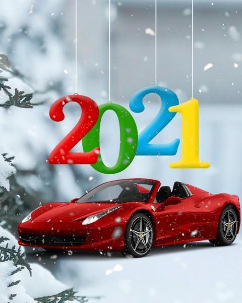 Winter CB Happy New Year Background 2021