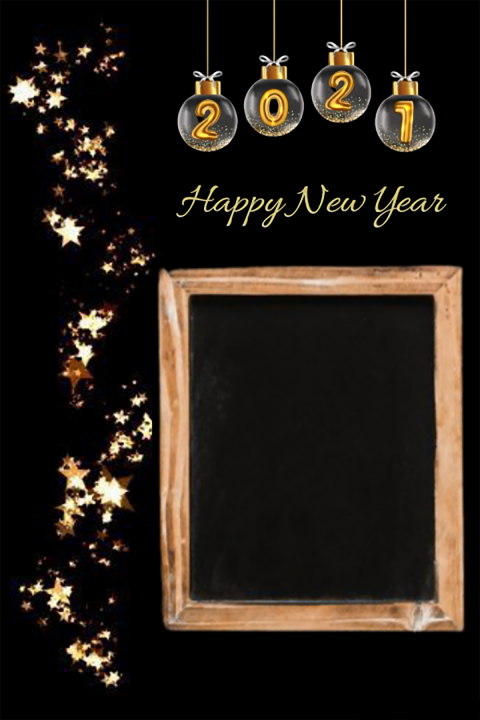 Frame Happy New Year Editing Background 2021