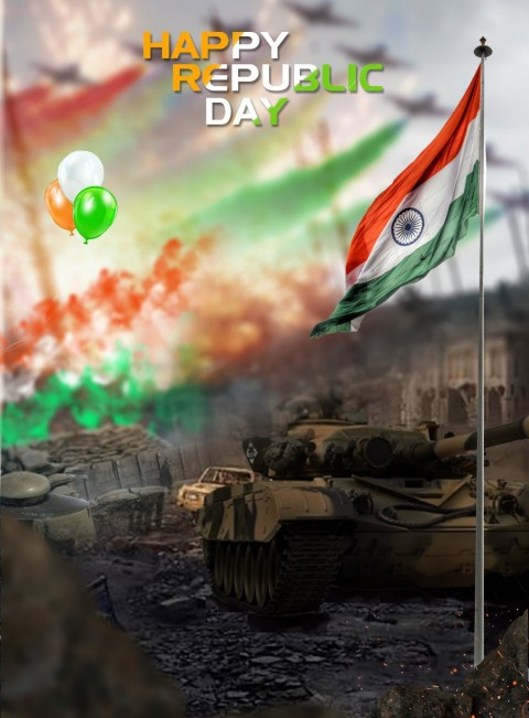 Happy Republic Day Editing Background  Download