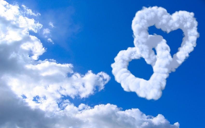 Heart Cloud Sky Background Full HD Download