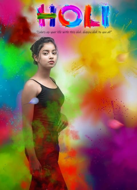 Holi  CB Picsart Editing Girl Background