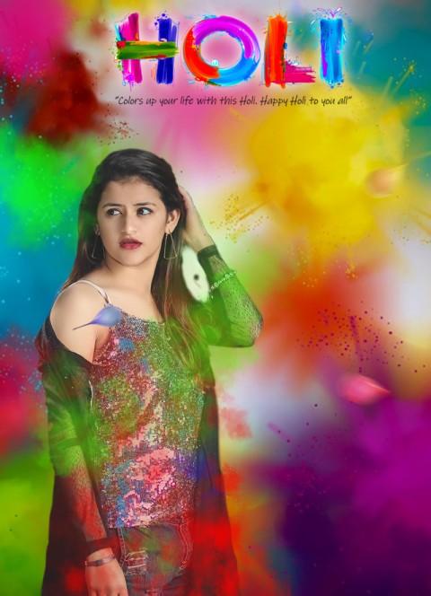 Holi Girl HD CB Picsart Editing Background Full HD