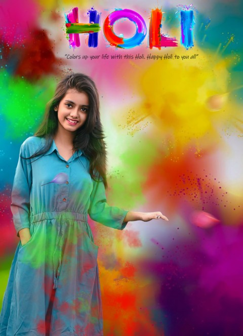 Holi Girls CB Picsart Editing Background HD