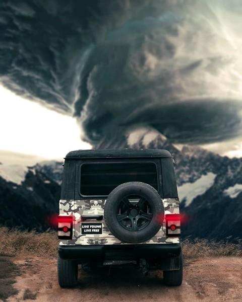 Jeep Back Side PicsArt Background HD Background