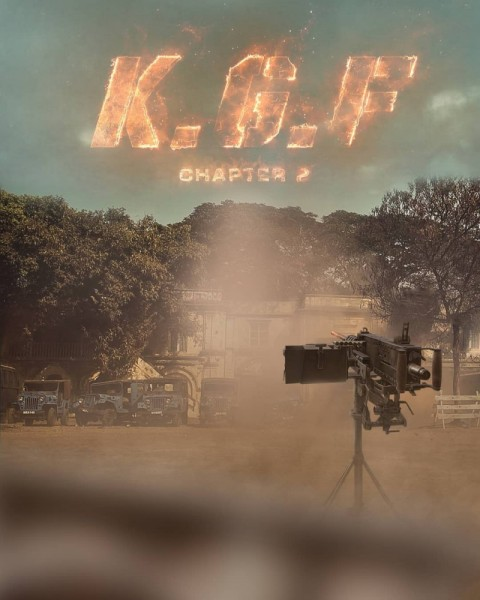 KGF Chapter 2 Movie Poster Background Download HD