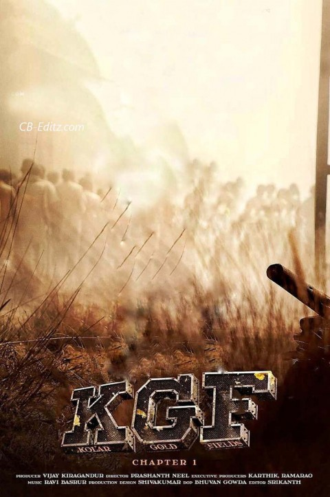 KGF Movie Poster Editing CB Background