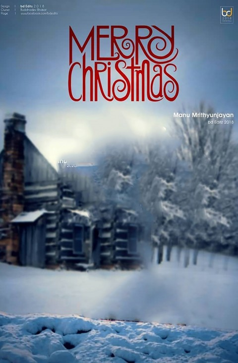 Merry Christmas Day Winter Editing  CB PicsArt Background