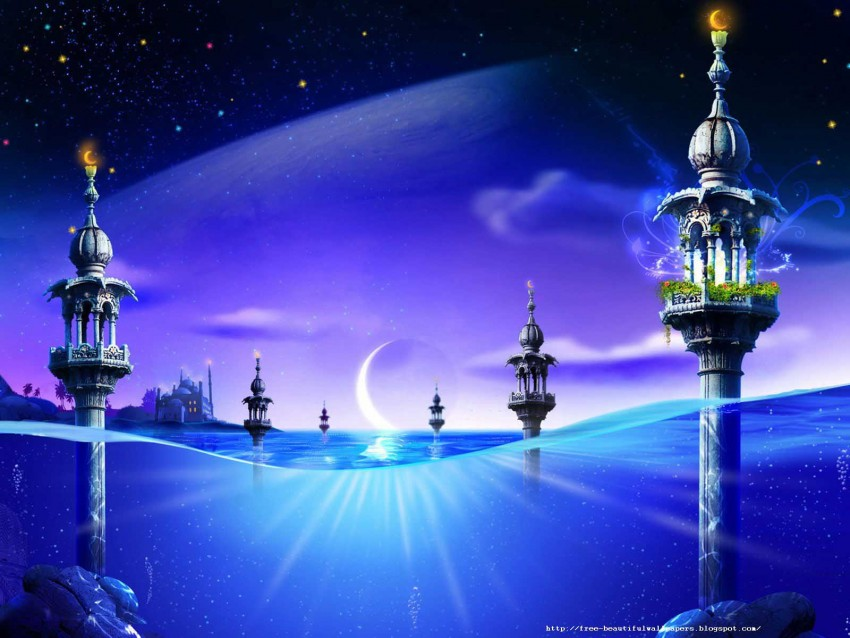 Modern Islamic PowerPoint PPT Background Templates