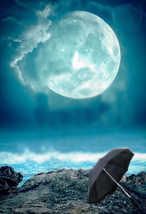 Moon Editing Picsart Background With Umbrella