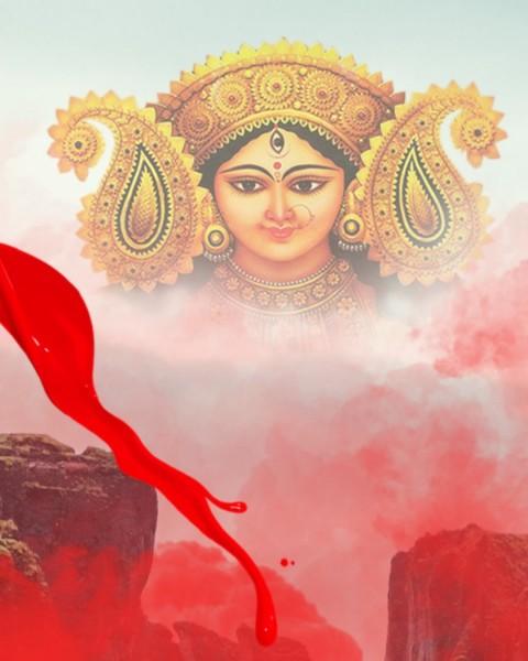 Navratri Maa Durga CB Photo Editing Background